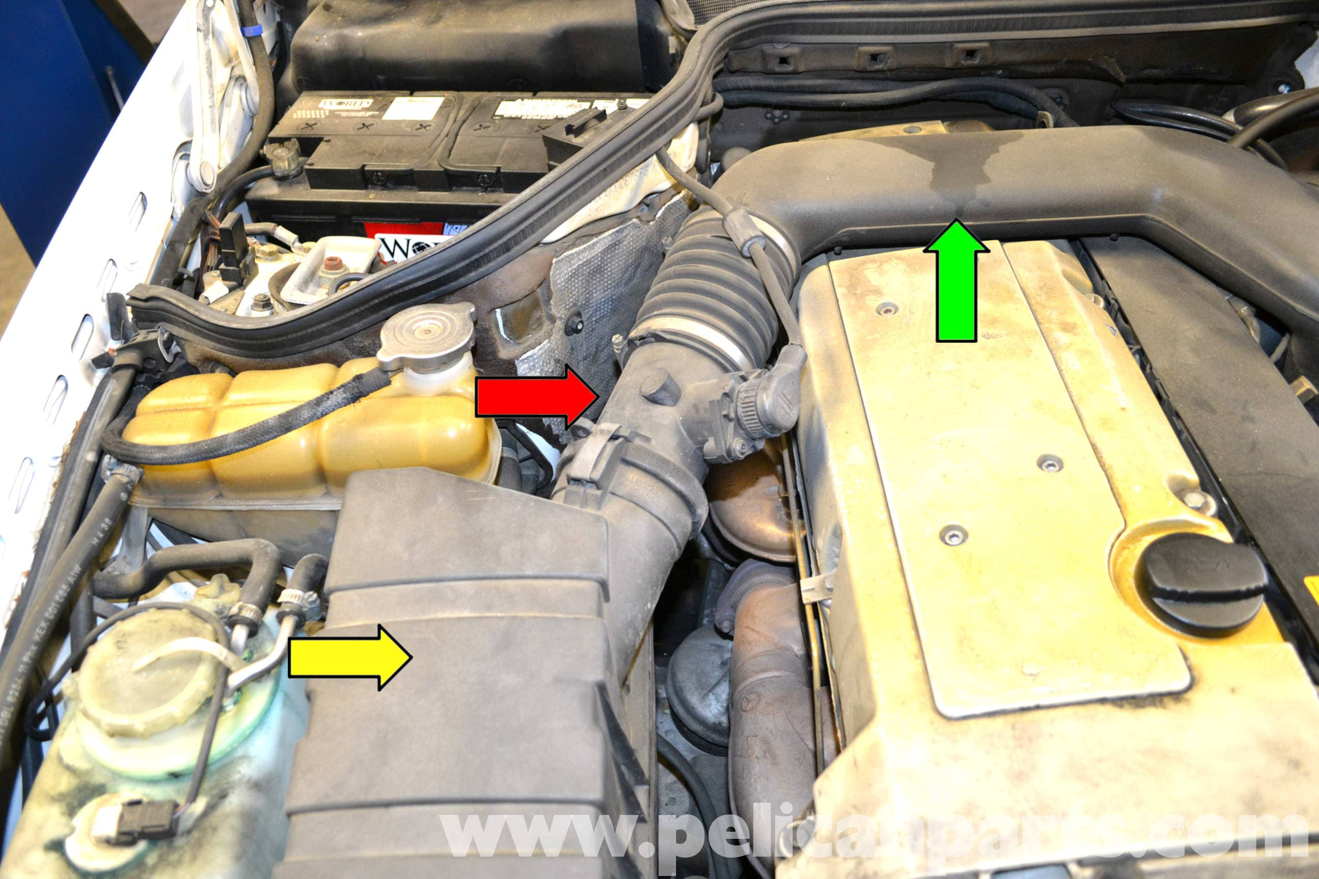 mercedes w124 maf sensor replacement 1986 1995 e class pelican parts diy maintenance