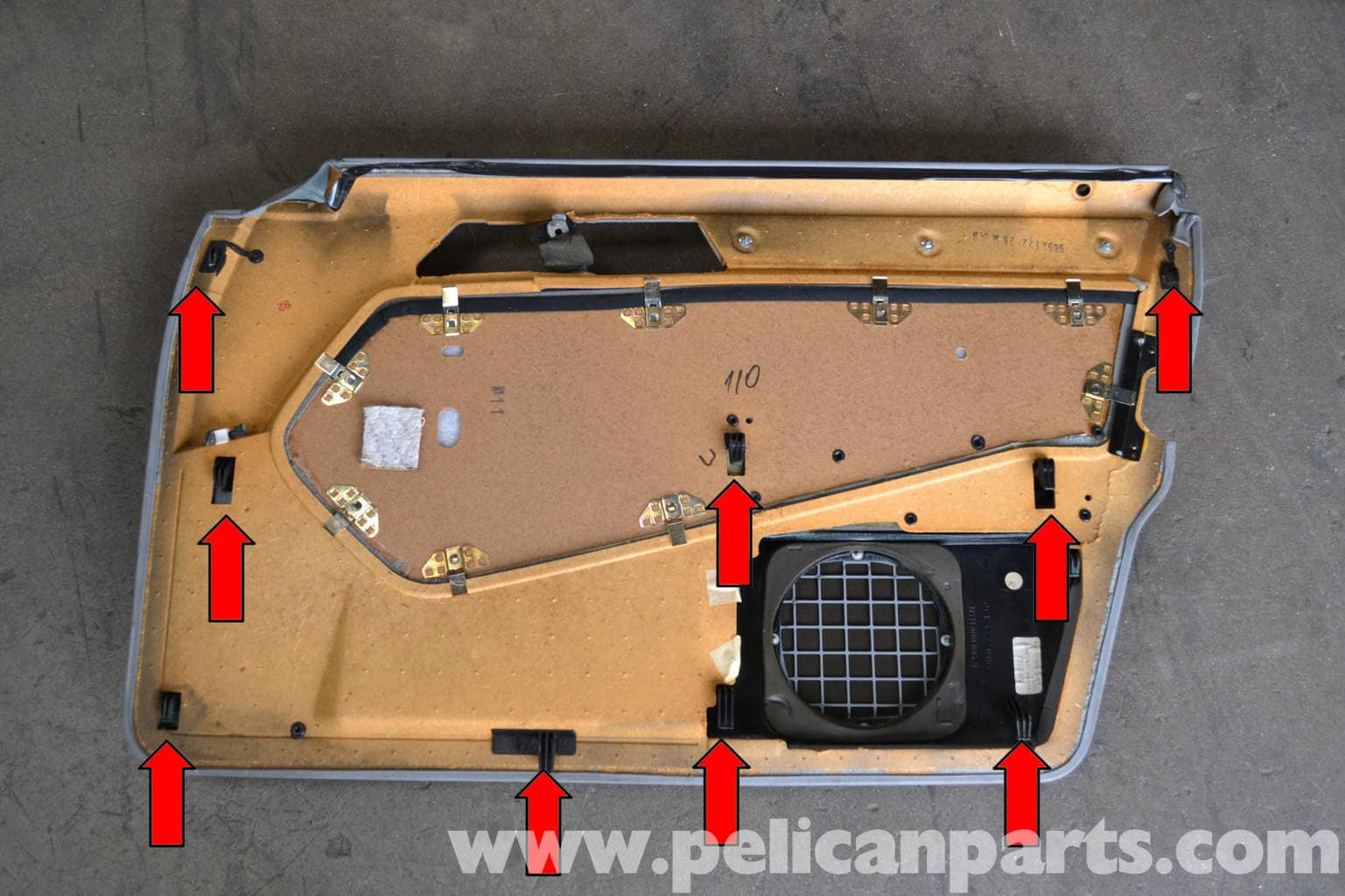 Mercedes benz w124 front door panel removal 1986 1995 e for Mercedes benz w124 parts