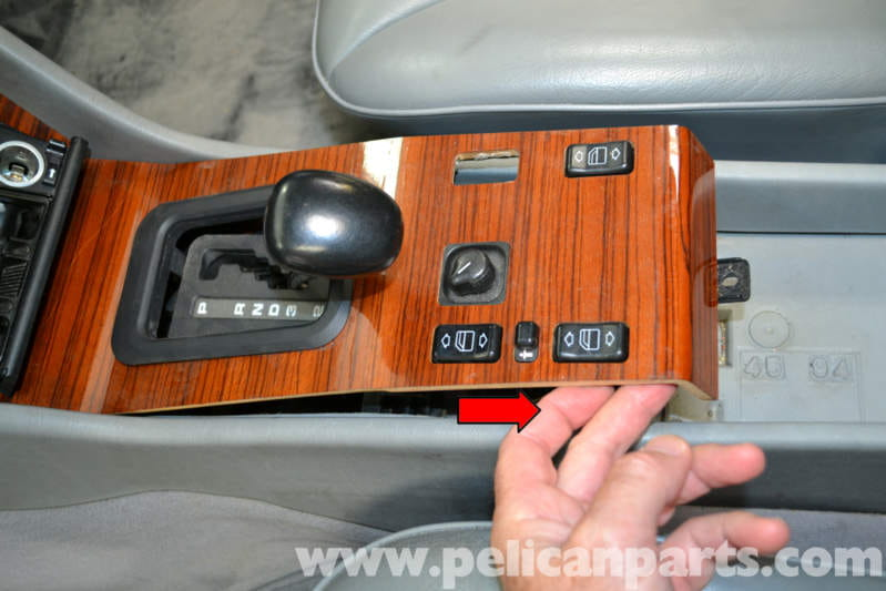 Mercedes Benz W124 Center Console Plate Removal 1986