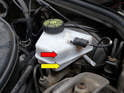 During the bleeding process, it's very easy to forget to check your master cylinder reservoir.