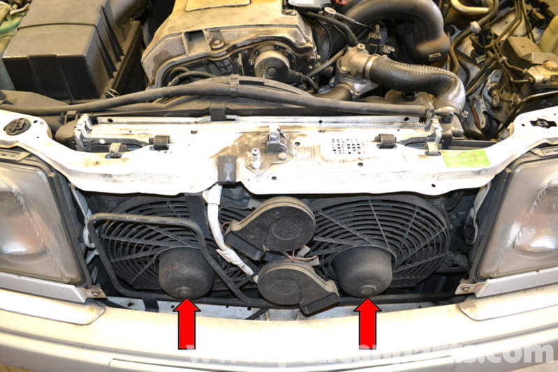 Mercedes Benz W124 Auxiliary Fan Replacement 1986 1995 E