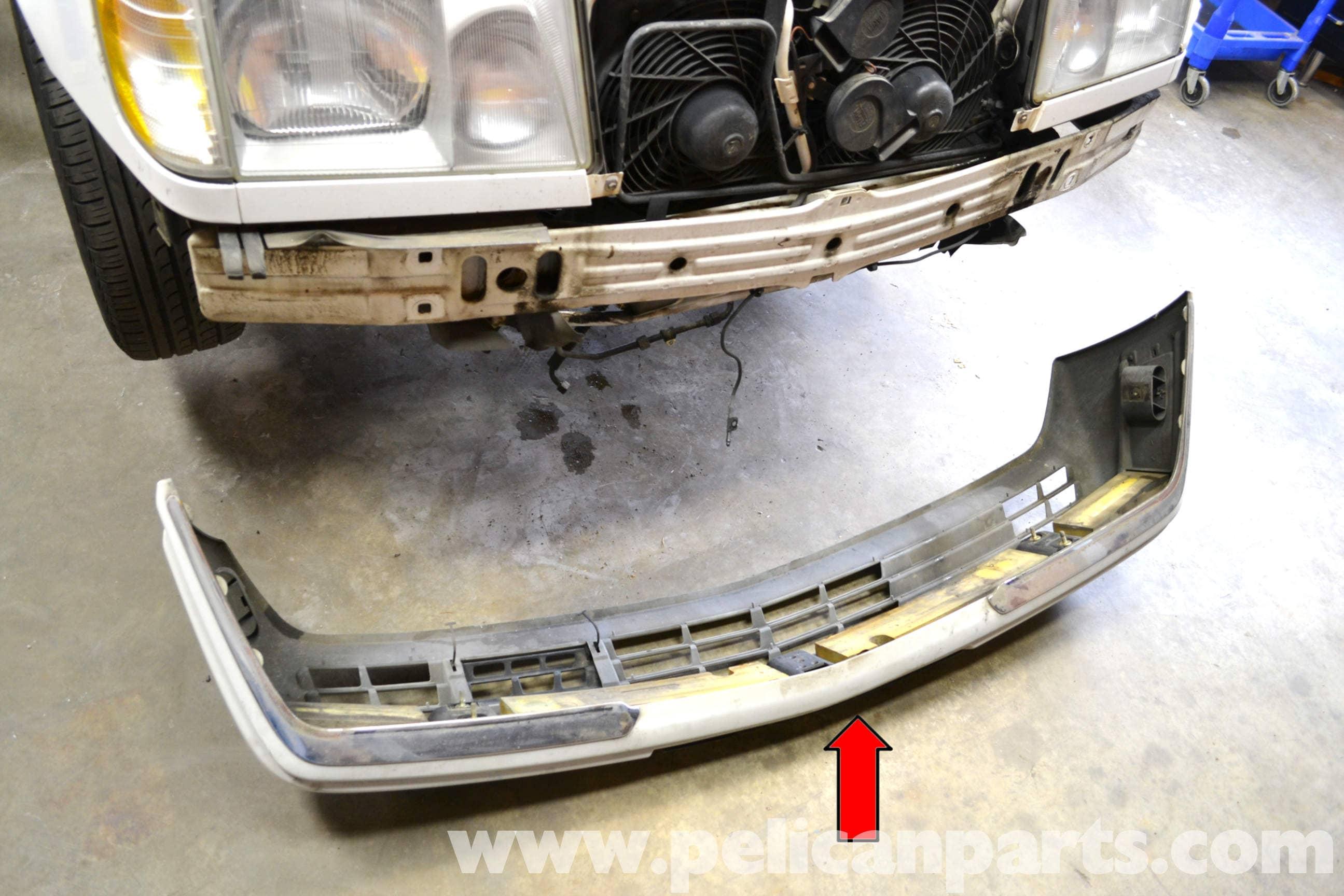 Mercedes benz w124 front bumper removal 1986 1995 e for Mercedes benz bumper repair