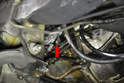 Below Method- With the starter motor removed you can get easy access to the sensor (red arrow).