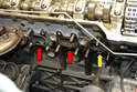The front manifold has three separate gaskets.