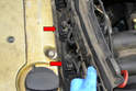 With everything loose move the tray and disconnect the wiring from the injectors (red arrows, two shown).