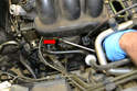 There are two tubes connecting the lower manifold to the upper manifold.
