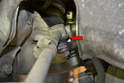 Make sure to check the condition of the inner ball joint as well (red arrow).