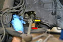 When replacing the inner ball joint (yellow arrow) the procedure is the same as the outer with the exception that the orientation of the joint is upside down.