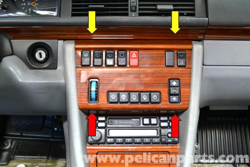 Mercedes Benz W124 Climate Controls Removal 1986 1995 E