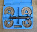 If you are changing your springs I highly recommend you use this spring compressor tool for Mercedes-Benz.