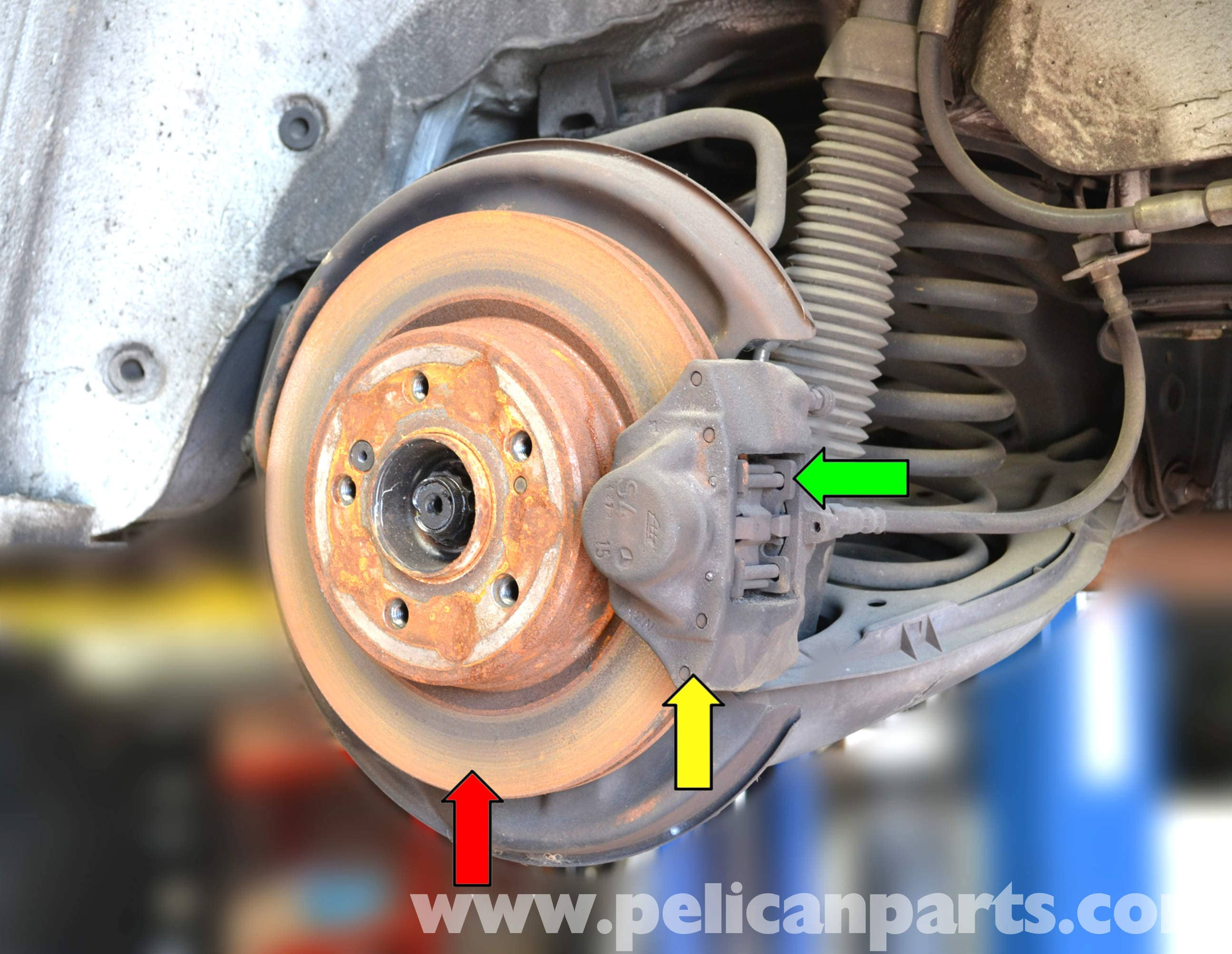 Mercedes benz w124 rear brake caliper replacement 1986 for Mercedes benz e350 brake pads replacement