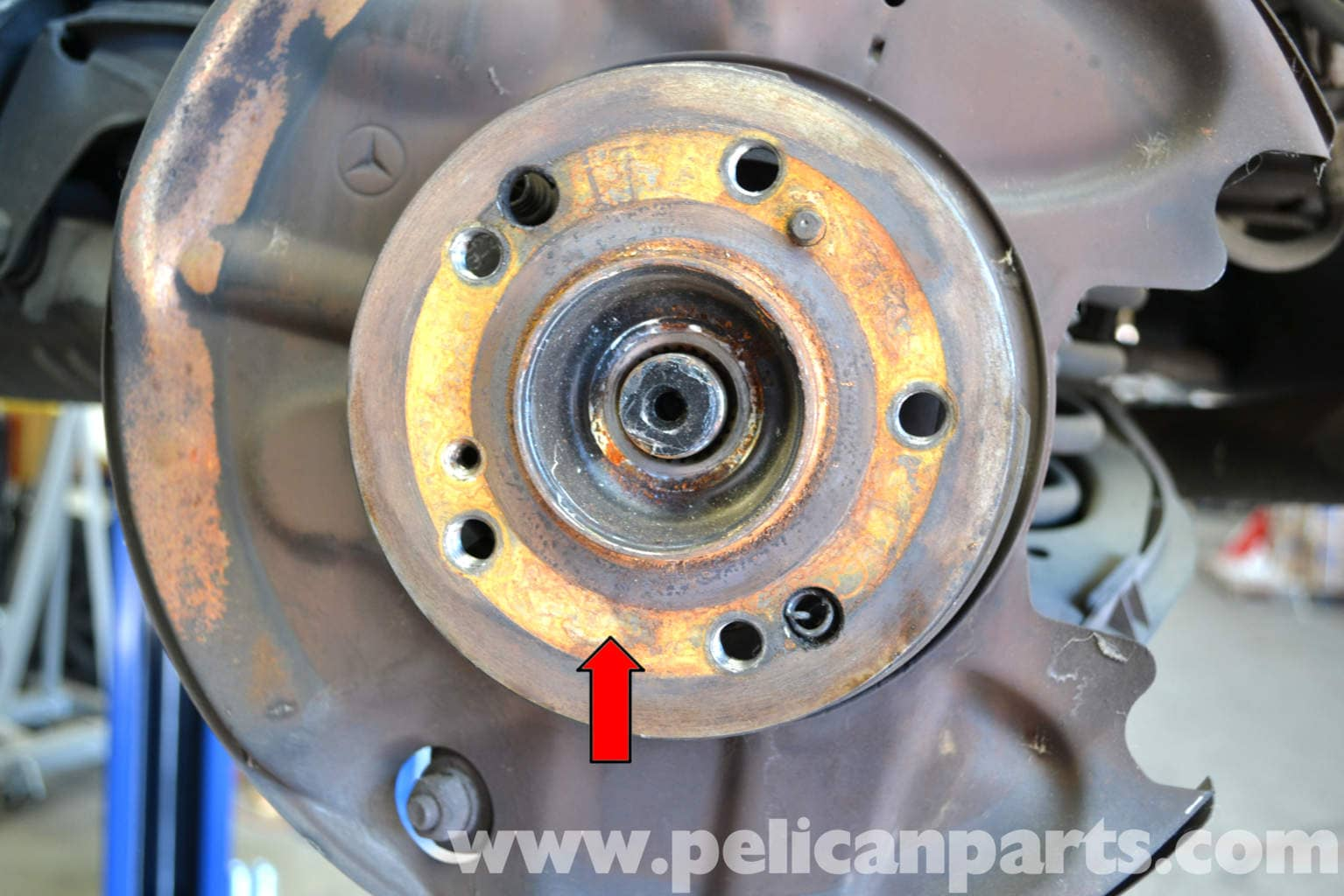 Mercedes benz w124 rear rotor replacement 1986 1995 e for Mercedes benz rotors replacement