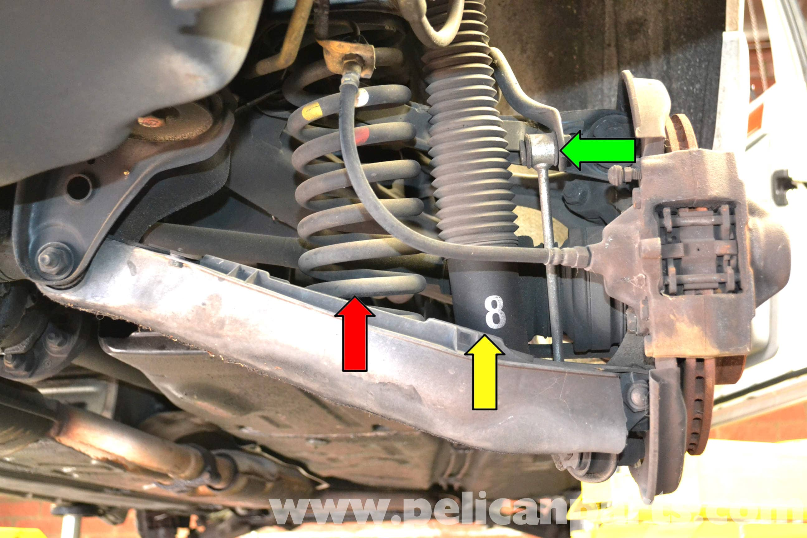 Mercedes benz w124 rear spring replacement 1986 1995 e for Mercedes benz spring compressor