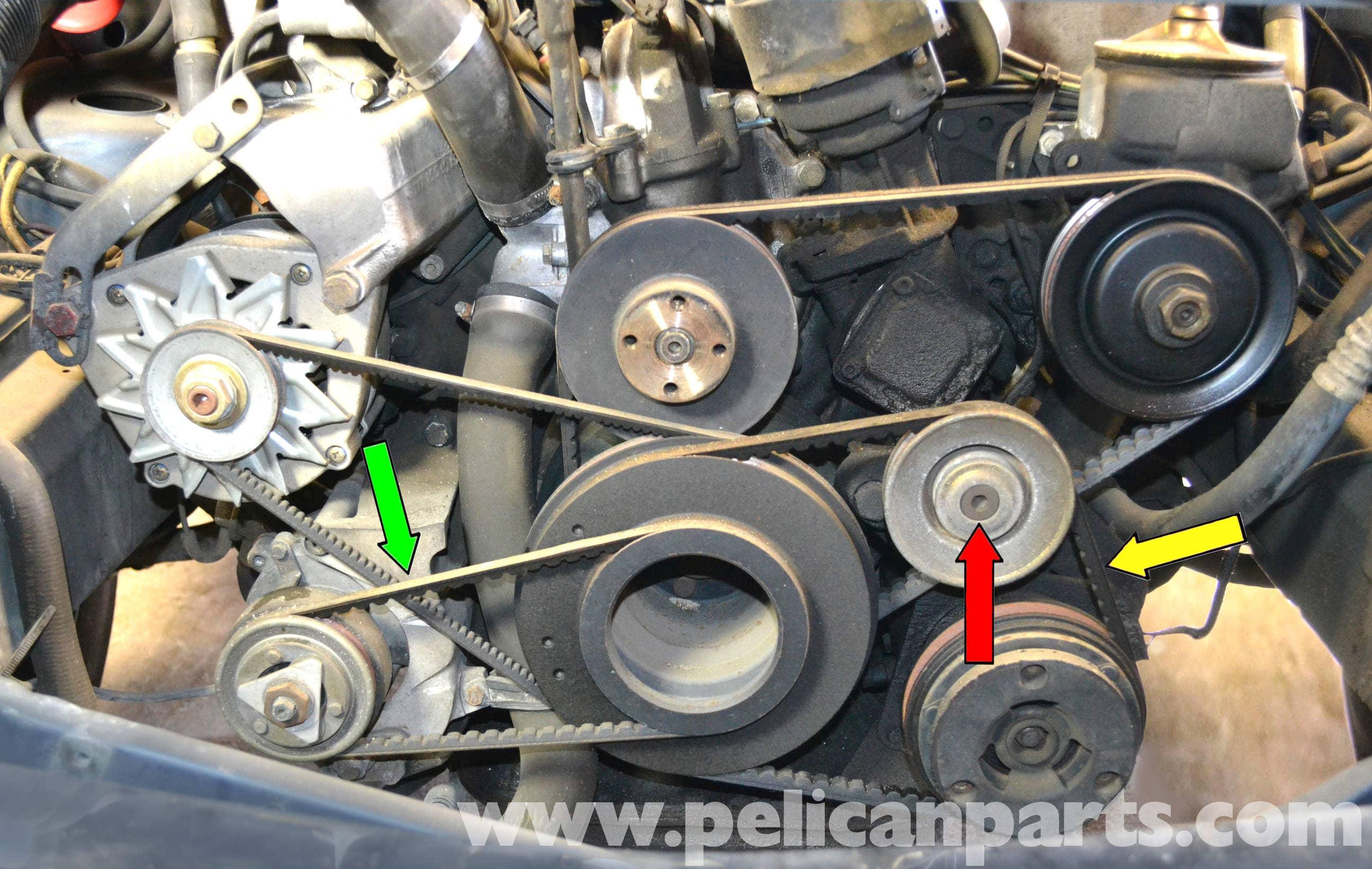 Mercedes Benz W126 A C Belt Replacement 1981 1991 S
