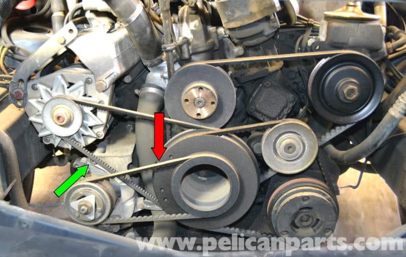 Mercedes Benz W126 Air Pump Belt Replacement 1981 1991 S