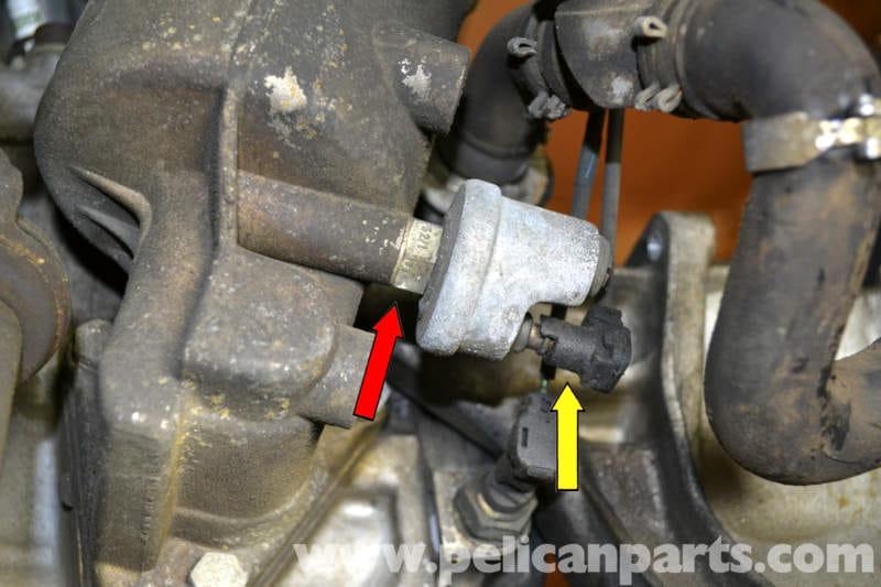 Mercedes Benz W126 Oil Pressure Sensor Replacement 1981