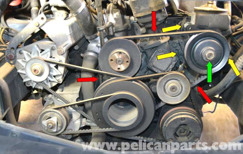 Mercedes Benz W126 Power Steering Pump Replacement 1981