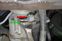 Here you can see how the 19mm bolt has teeth in it (red arrow) and the toothed gate (green arrow) that the bolt turns in.