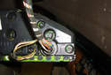 This photo illustrates that we have rotated the instrument cluster so that we are now looking at the left side of it.