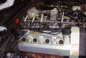 This Picture illustrates the right side cylinder head with the ignition wire cover removed.