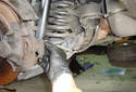 Rear Brake Hose Spin the brake hose counterclockwise until it threads out of the caliper.
