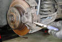 Rear Brake Pads Use pliers to pull out the outer brake pad.