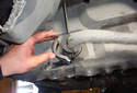 Remove the inside sway bar bushing bracket from the chassis mount.