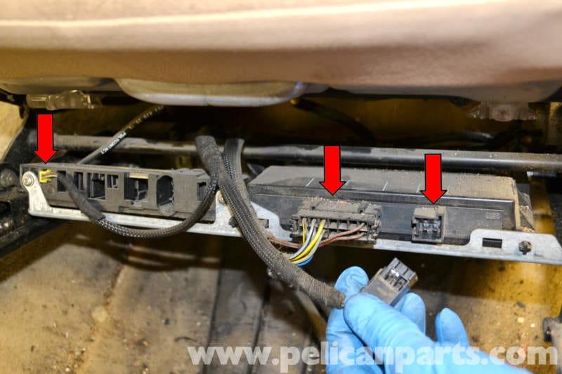 7 point wire harness mercedes benz w203 seat removal  2001 2007  c230  c280  mercedes benz w203 seat removal  2001 2007  c230  c280