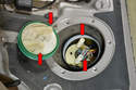 Remove the ring cover along with the shaped seal.