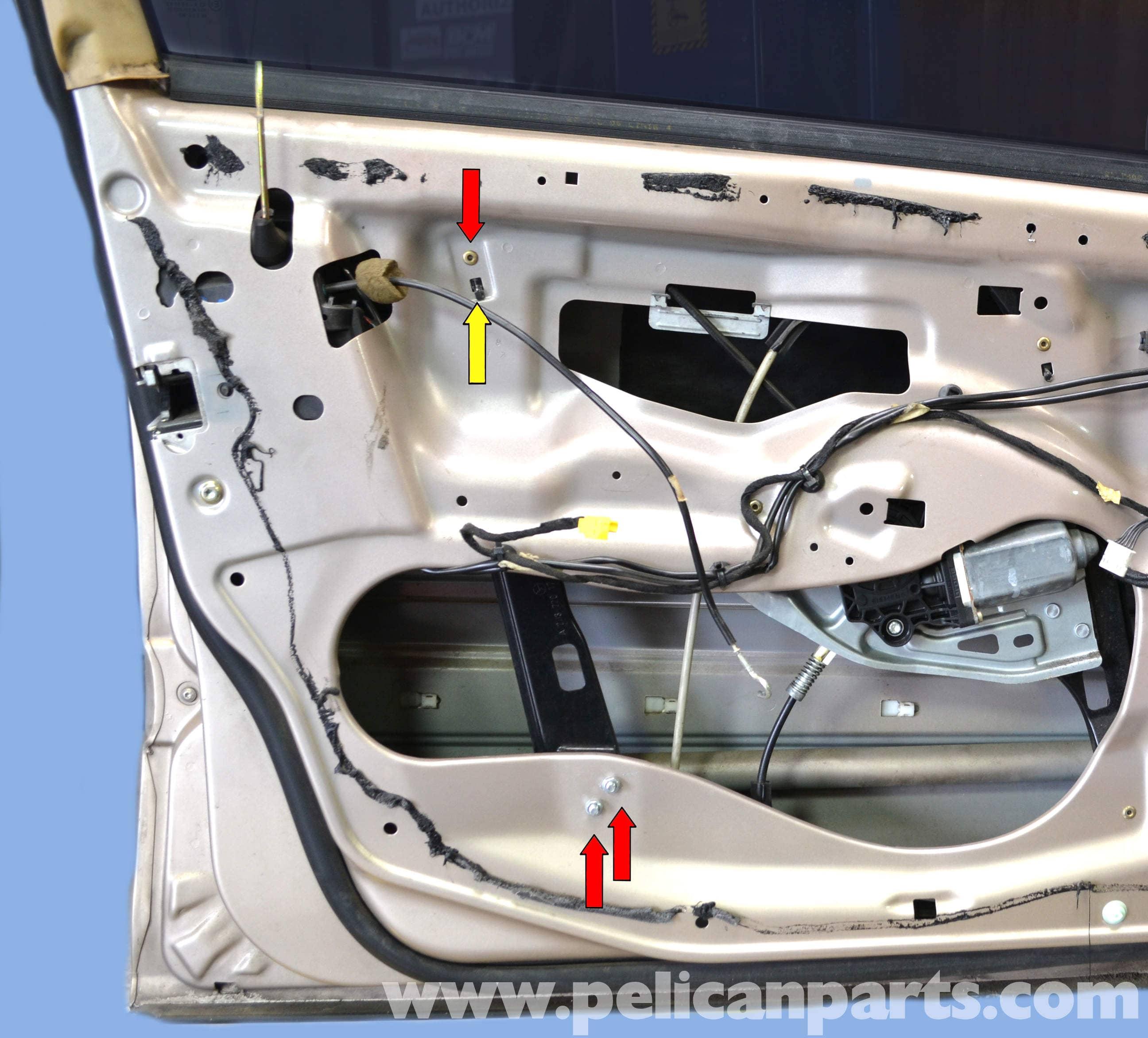 mercedes-benz w203 front door lock removal - (2001-2007) c230