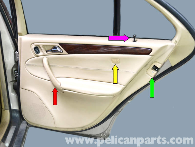 Mercedes Benz W203 Rear Door Panel Removal 2001 2007