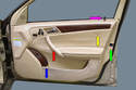 Shown here is the interior door panel.