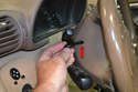 Once the screw is loosened you can take the Torx off the handle (red arrow) to help with the lack of space.