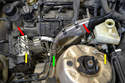 You are going to have to remove the brake lines that connect to the ABS unit to get the master cylinder out.