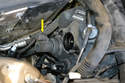 With the master cylinder removed you can see the sensor almost directly below the hole left by the master cylinder.