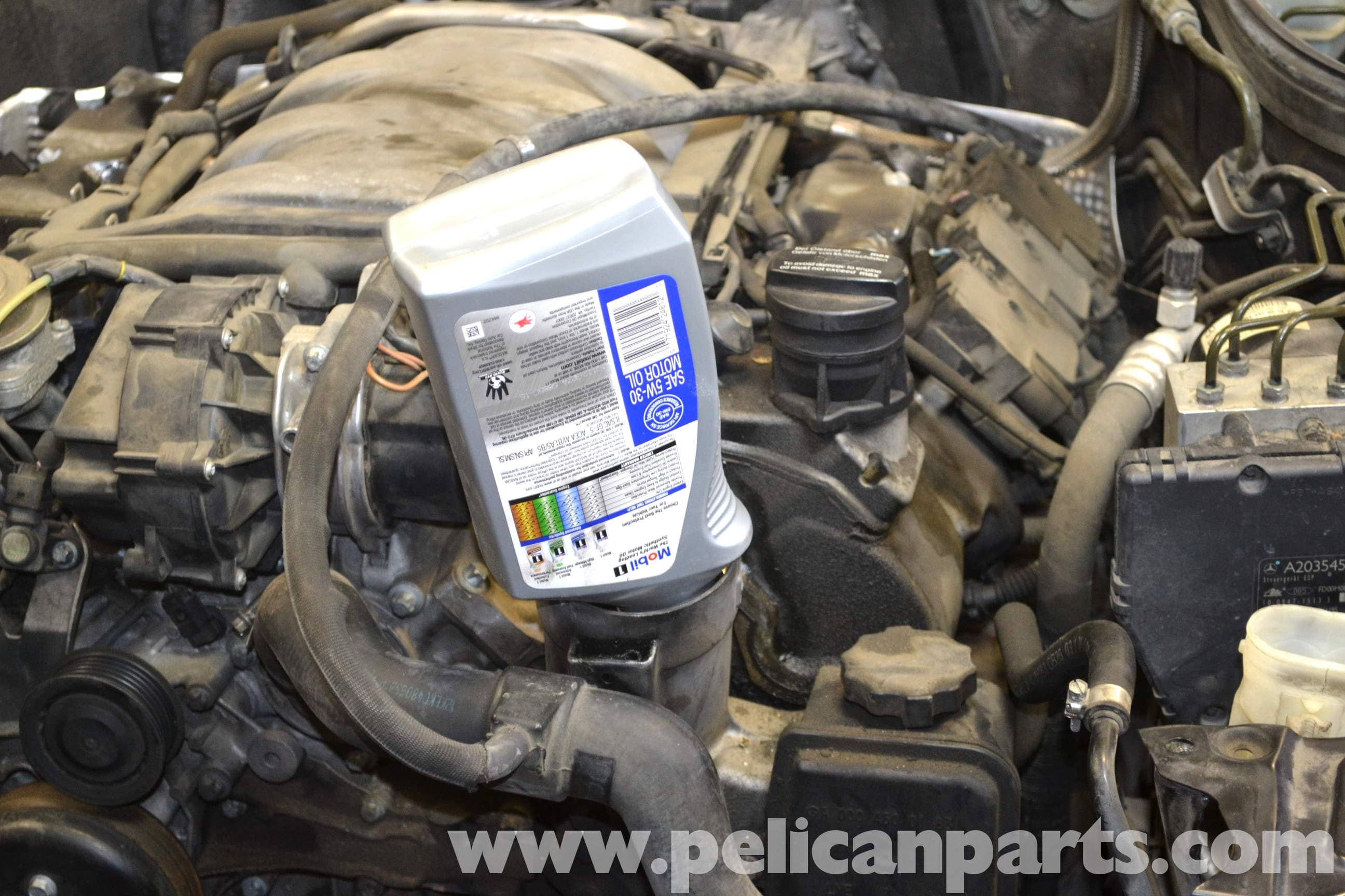 mercedes benz w203 oil change 2001 2007 c230 c280
