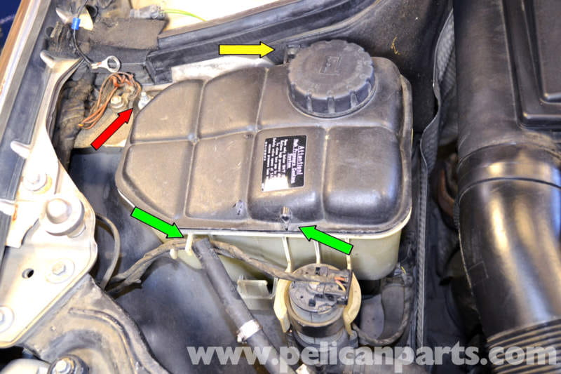 Mercedes Benz W203 Coolant Expansion Tank Replacement