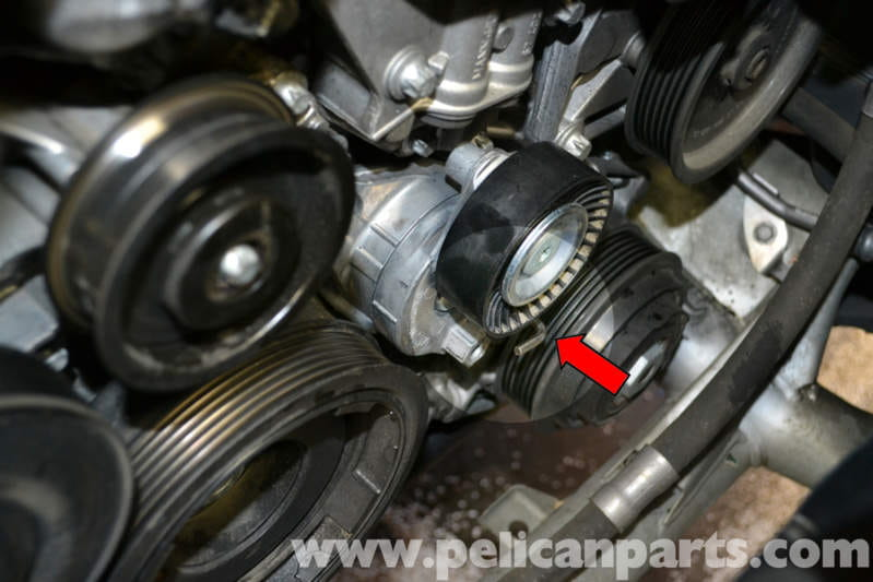 Mercedes Benz W204 Belt Tensioner Replacement 2008 2014
