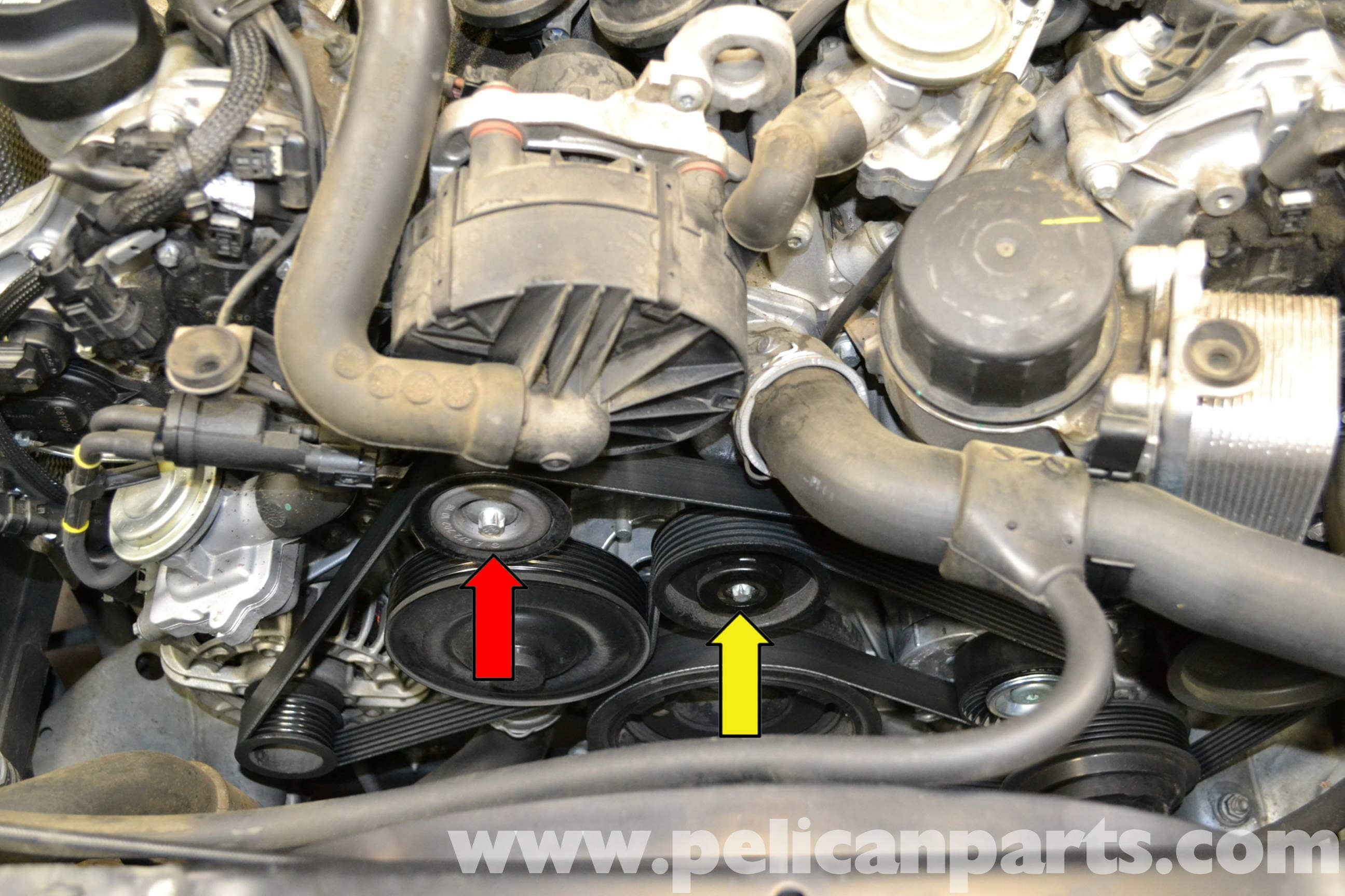 Mercedes Benz W204 Idler Pulley Replacement 2008 2014