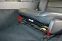 Front Seats- Once the seat belt, fasteners and trim are removed from your seat, move the seat all the way rearward to expose the seat module electrical connector and front mounting bolts.
