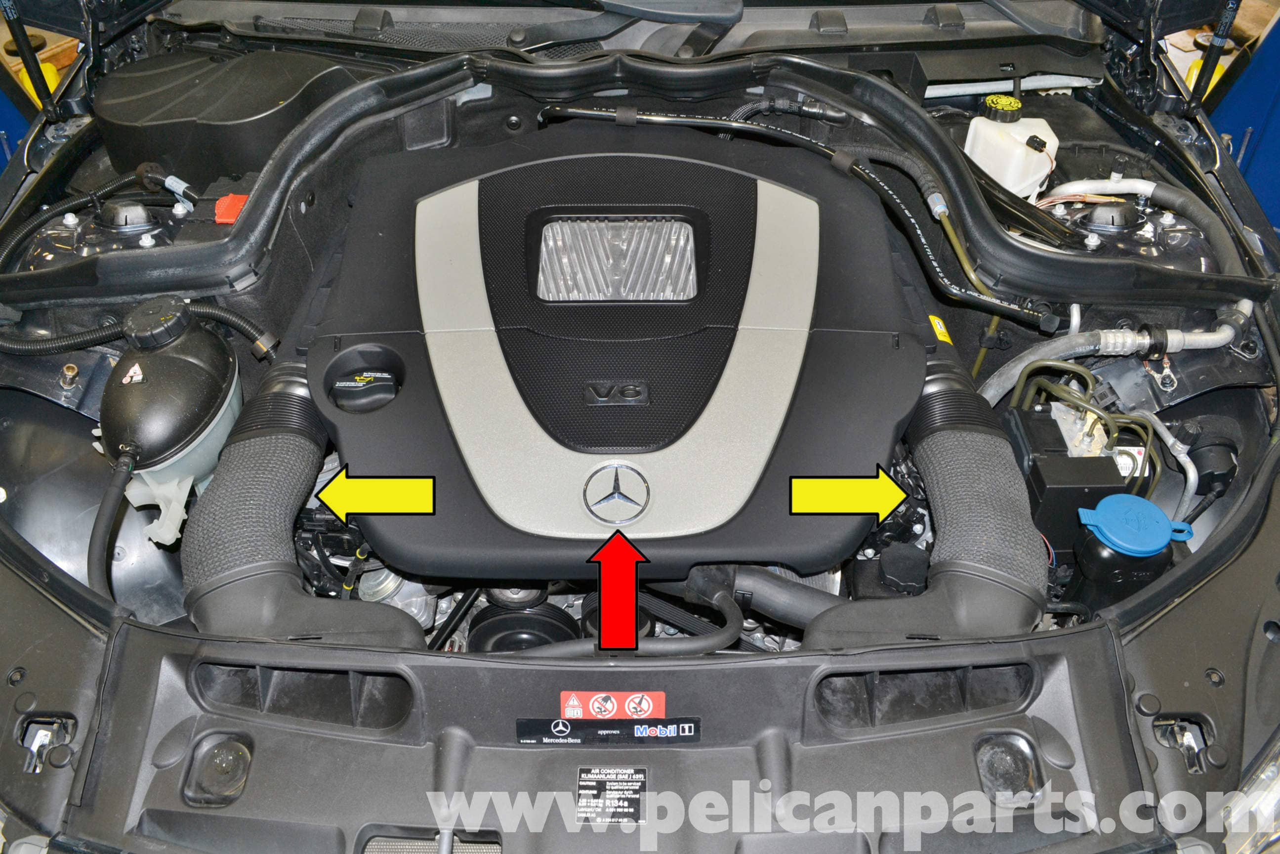 How To Flush Coolant System >> Mercedes-Benz W204 Thermostat Replacement - (2008-2014 ...
