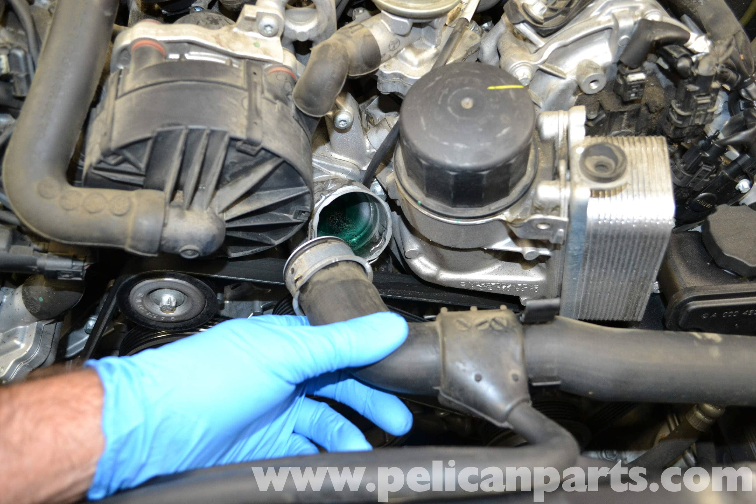 Mercedes benz w204 thermostat replacement 2008 2014 for Mercedes benz thermostat