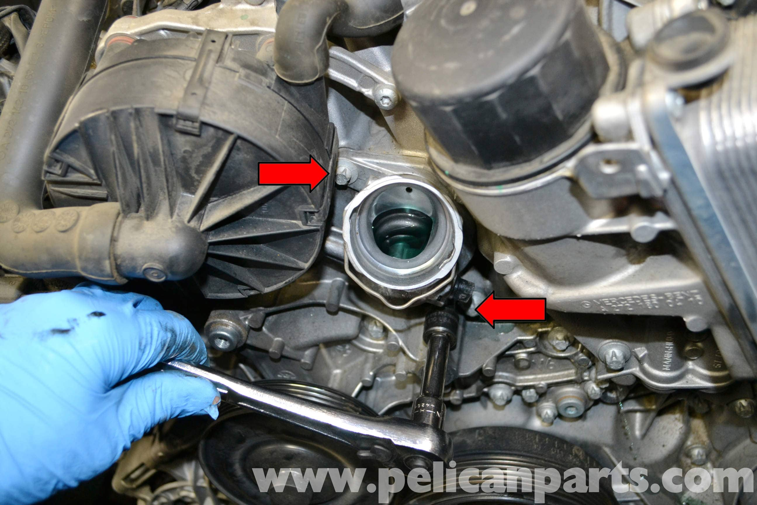 Mercedes Benz W204 Thermostat Replacement 2008 2014
