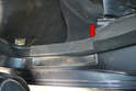 Rear Sills- The rear sill plates are held in place by clips as well but also have a flap that sits in the rear C-pillar trim (red arrow).
