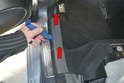 Rear Sills- Begin by working at the front of the sill plate and prying upward and towards the rear (red arrows).