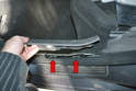 Rear Sills- When you get to the rear you can lift the plate forward and out from the C-pillar trim piece.