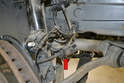 Remove the ABS wheel speed sensor and brake wear sensor cables from their mounts.