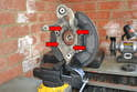Whether you are going to transfer the bearings and hub to the new wheel carrier or just need to get the dust shield off you will need to remove the four E12 bolts (red arrows).