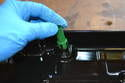 Install the new tube on the top of the drain plug making sure it clicks in place.