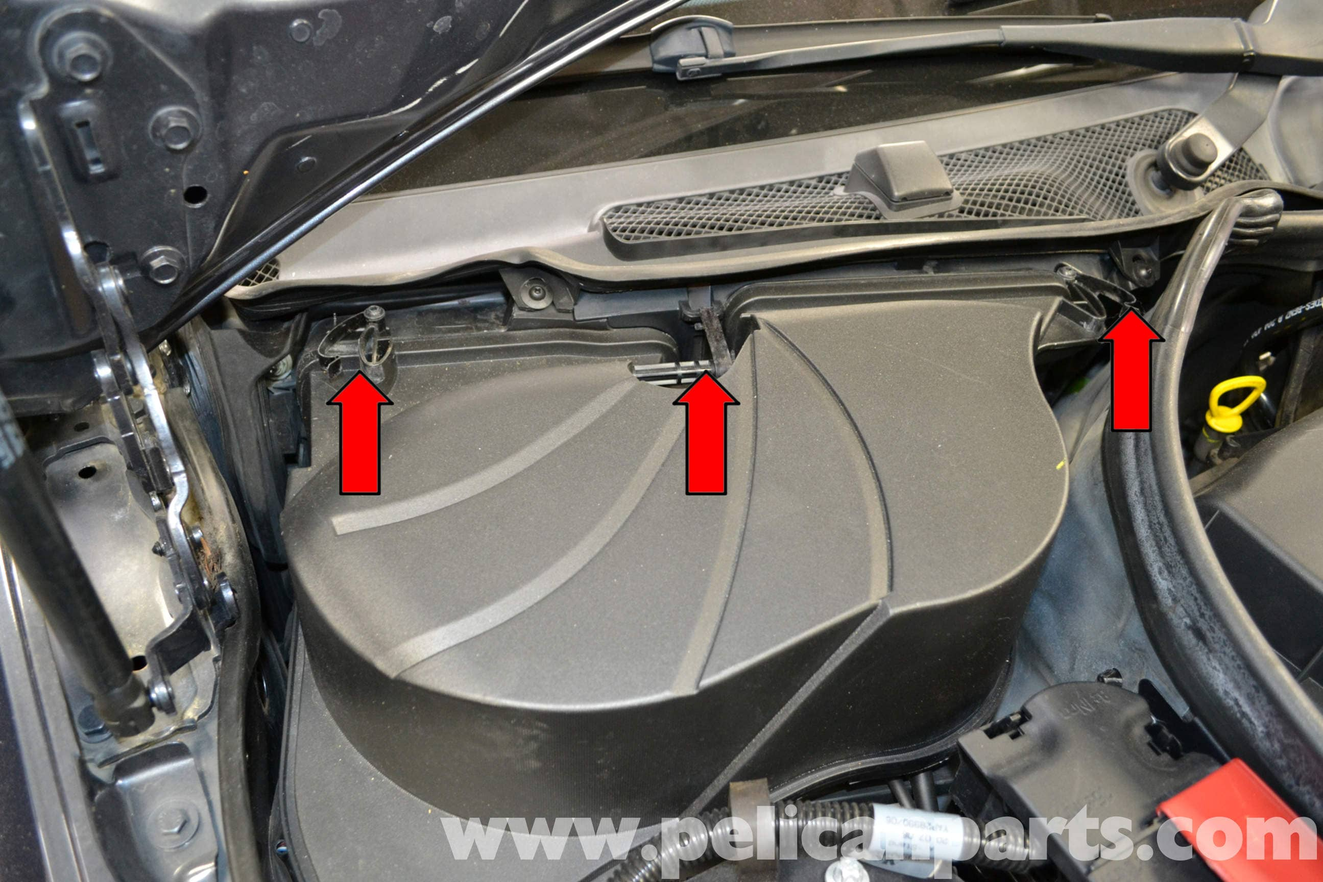 Mercedes C Class  Battery Location